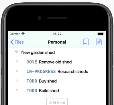 beorg - Task management for iPhone and iPad